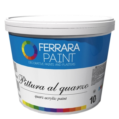 Краска-грунт с кварцевым песком Pittura al quarzo, 10 л