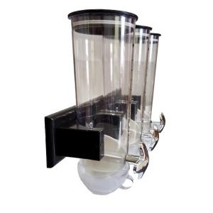 Диспенсер для сыпучих продуктов с поворотным дозатором и креплением